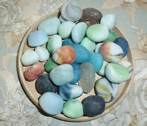 Large 1 Pound Lot Tumbled Glass Pieces Amazing Colors Sea Glass Crafts, Jewelry