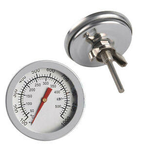 AL-Stainless-Steel-Barbecue-BBQ-Smoker-Grill-Thermometer-Temperature-Gauge-Raki