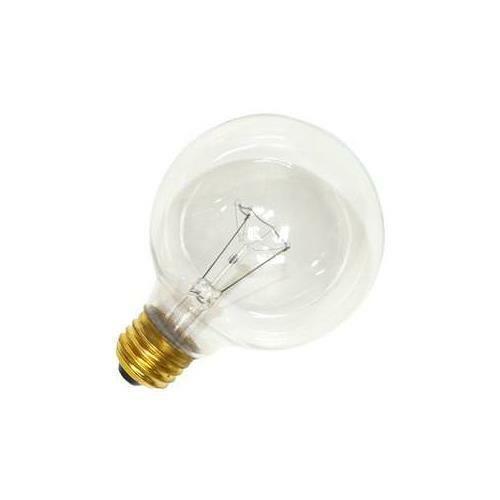 Satco 40G25 220V Incandescent Globe Light, 40W E26 G25, Clear Bulb