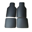 4Pcs-Universal-Black-PU-Leather-Carpet-Set-Car-Floor-Mats-Protect-Accessories thumbnail 3