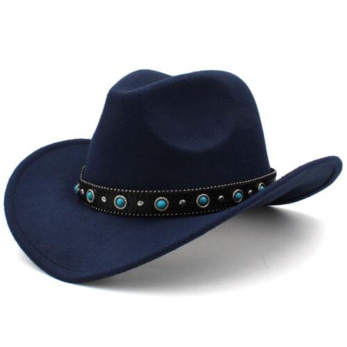 Hommes Femmes Enfant Enfants Garçon Fille COWBOY WESTERN Chapeaux Large Bord Sunhat Panama Caps
