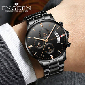 Luxury-Stainless-Steel-Men-039-s-Military-Army-Quartz-Analog-Wrist-Watch-Waterproof