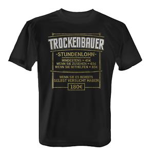 Horaire Sèche Bauer T-shirt Hommes Slogan construction ouvrier Artisanat professionnelle Job