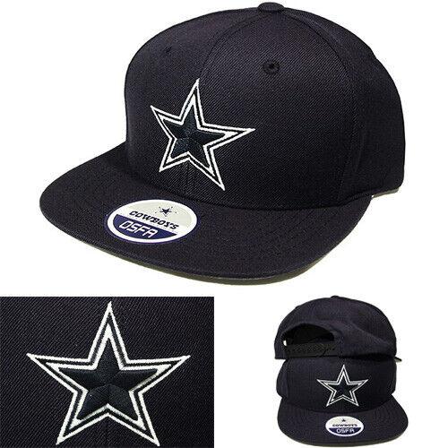 Dallas Cowboys NFL Team Snapback Hat Solid Navy Blue Classic Game Cap
