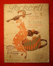 Leckerli-Tanzalbum für Violine-20 Lieder-gest.Noten-Lithograph.Titelblatt-1917