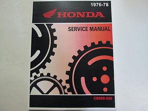 1976-1977-1978-Honda-CB550-CB500-CB-500-550-Servicio-Tienda-Reparar-Manual-Nuevo