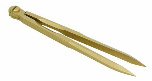 Marinezirkel matt zaboniert gold Kartenzirkel Stechzirkel