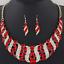 Women Rhinestone Crystal Spiral Shaped Choker Chunky Bib Necklace Chain Set Gift