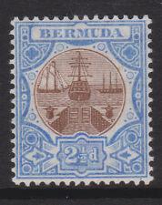 "BERMUDA - 1906/10 WMK. MCA ""DOCK"" 2½d BROWN & ULTRA. MINT  SG.40 (REF.A39b)"