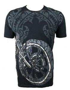 Konquest-Platine-Homme-K-Velo-T-Shirt-Imprime-Noir-KQTS033