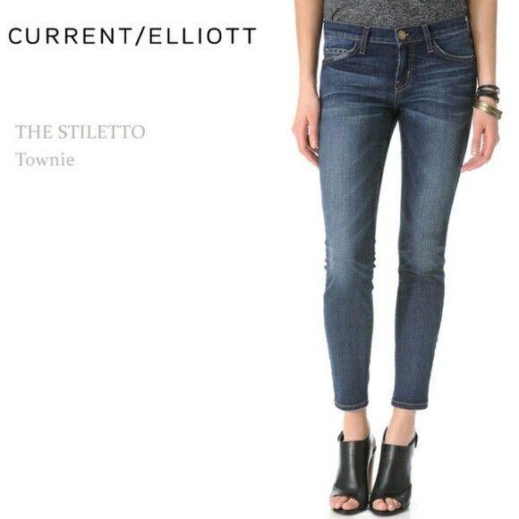 Current Elliot Medium Wash Distressed The Stiletto Townie Denim Jeans Size 29