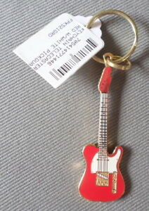 Image Is Loading Telecaster Red W White Pickguard Guitar Keychain 2