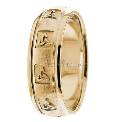 Celtic Knot Wedding Bands.14k Solid Gold Mens Womens Celtic Wedding Bands Trinity Knot Wedding Band Rings Ebay