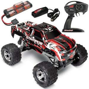 Traxxas Stampede XL-5 RED 2WD RTR RC Truck w/ID Battery & Quick Charger 36054-1