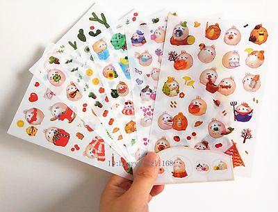 New 6 sheet Molang rabbit Sticker Ver.4 deco Diary Planner Scrapbooking Kawaii