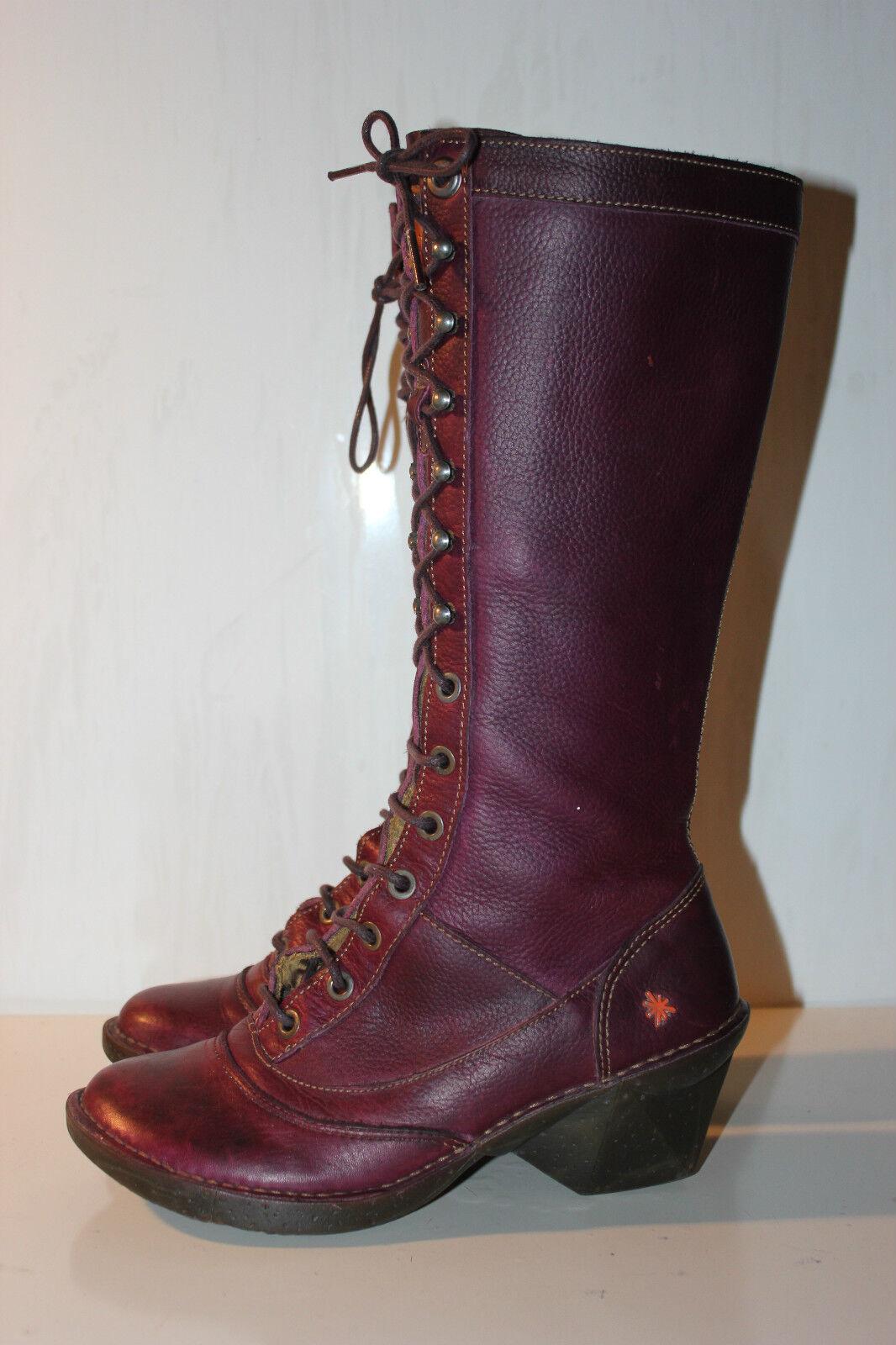 Art Company Oteiza hermosa púrpura oscuro botas, botas, botas, talla 36, np  suministramos lo mejor