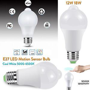 PIR-Infrared-Motion-Sensor-LED-Bulb-Light-E27-12W-18W-110V-220V-Cool-White-SS742