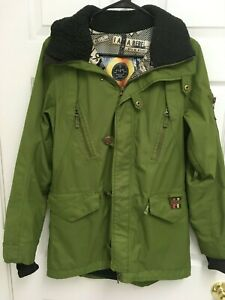 B-by-BURTON-Women-Dry-Ride-Snowboard-Ski-Waterproof-Olive-Green-Jacket-Coat-S