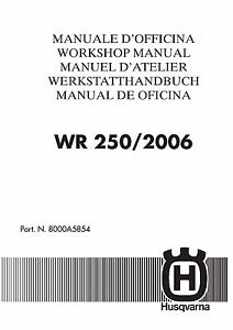 husqvarna wr250 complete workshop repair manual 2006