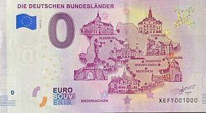 BILLET-0-EURO-DIE-DEUTSCHEN-BUNDESLANDER-NIEDERSACHSEN-2019-NUMERO-1000