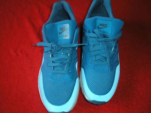 NIB Nike Air Max 1 Ultra Moire Running Shoe Blue 704995 402 WOMEN'S Sz 9
