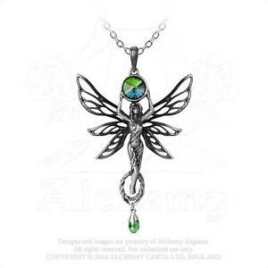 Alchemy-The-Green-Diosa-Estano-y-Colgante-de-Cristal