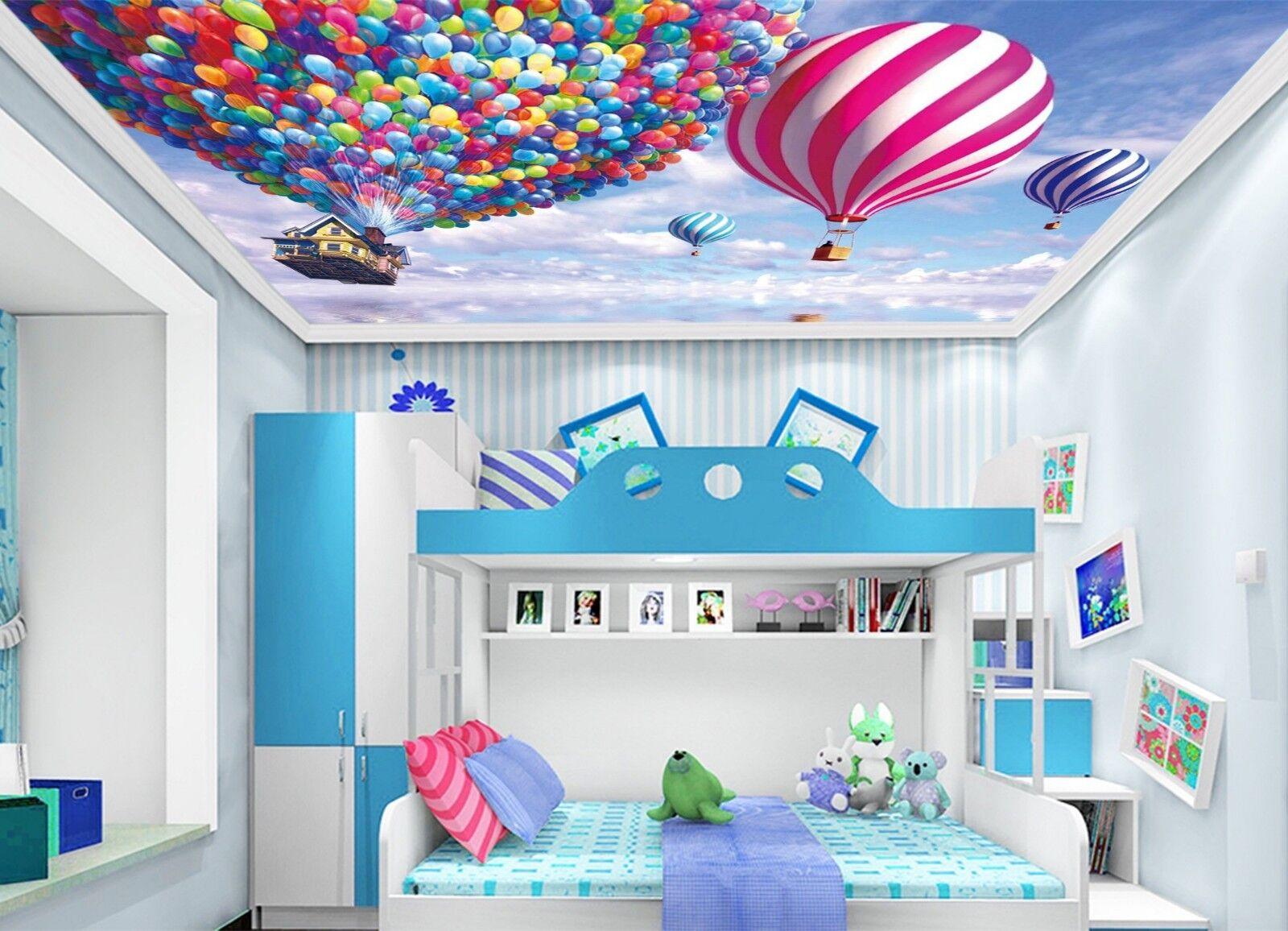 3D Hot Air Balloon Sky 97 Wall Paper Wall Print Decal Wall Deco AJ WALLPAPER