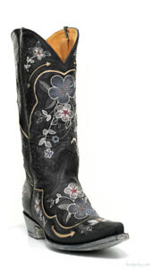 1f5401a9021 L 696-5 OLD GRINGO BONNIE PIPIN BLACK EMBROIDERED BOOTS | eBay