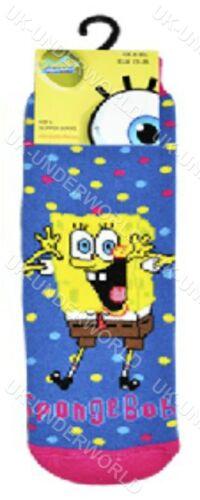 Childrens Girls Boys Spongbob Squarepants Slipper Gripper Bed Socks Winter Warm
