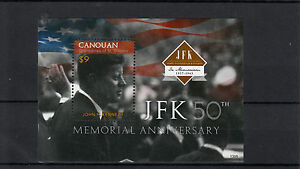 Canouan-Grenadines-St-Vincent-2013-MNH-JFK-50th-Memorial-Anniv-1v-S-S-Kennedy