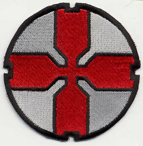 Starship-Troopers-Large-Fully-Embroidered-3-034-Red-Cross-Iron-on-Patch