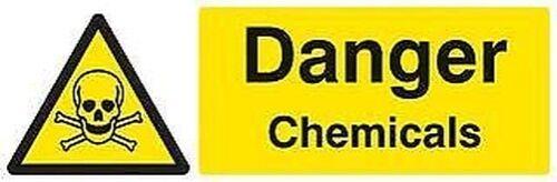 Schild Danger Chemikalien Sav Persönlicher Schutz /& Baustelle Sicherheit Zeichen