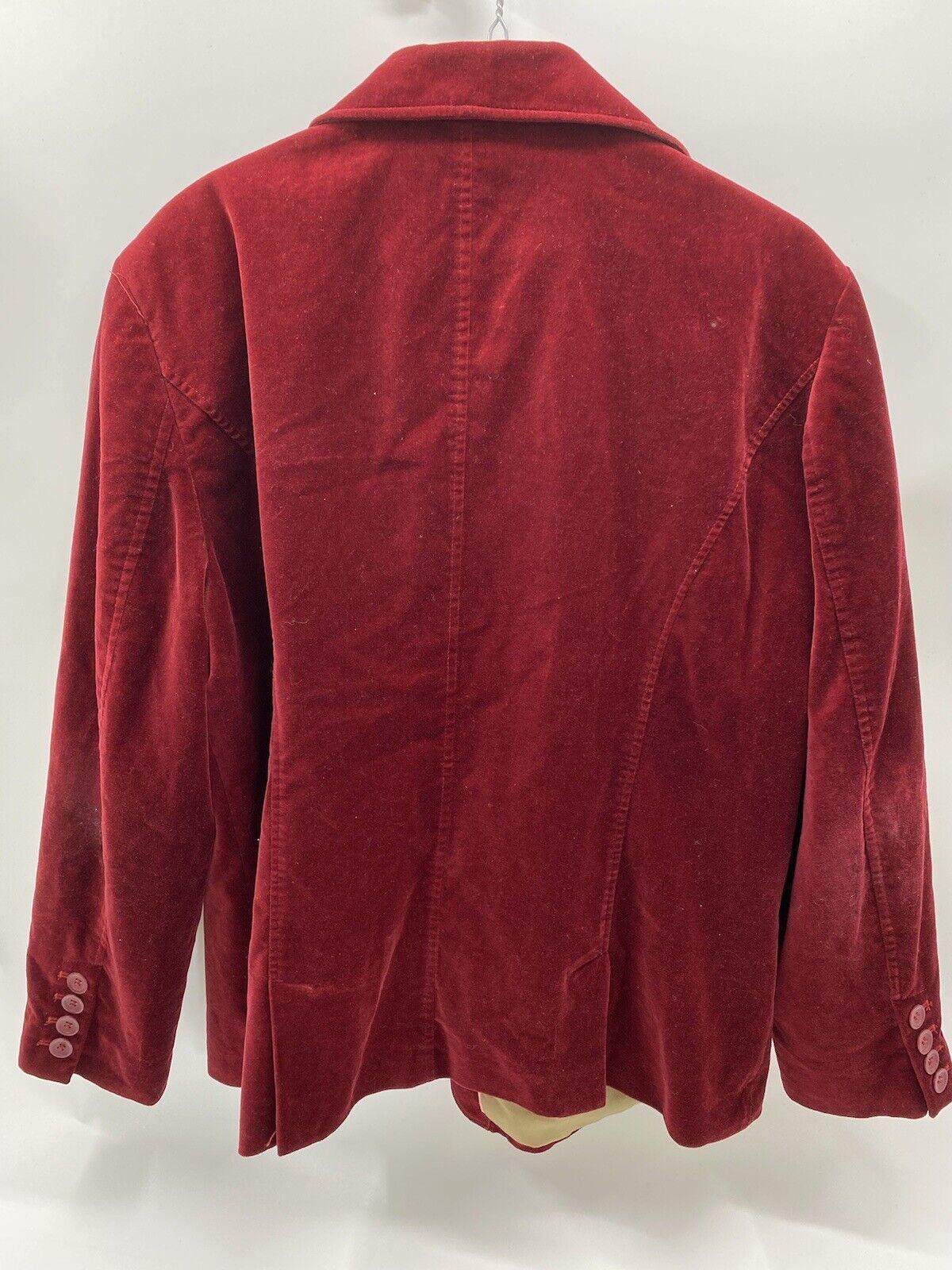 Liz Claiborne Red suede lined jacket/blazer Mediu… - image 2