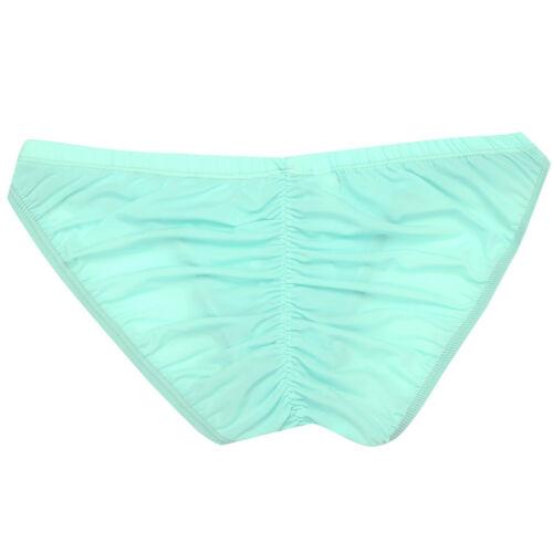 Men/'s Sheer Ice Silk Lingerie Briefs Underwear Bulge Pouch Bikini Underpants