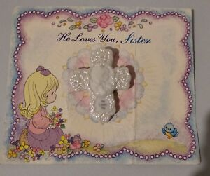 Broche de Precious Moments-He loves you/me de 1995 Vintage Nuevo