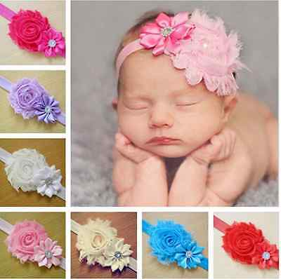 Lots 7pc Sweet Kid Baby Girl Flower Headband Toddler Hair Bow Band Accessories