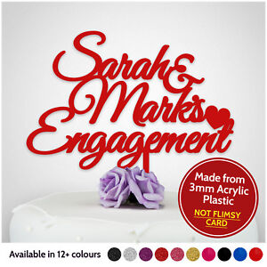 Custom-ENGAGEMENT-Cake-Topper-Personalised-Wedding-Engaged-Cake-Toppers-Party