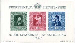 LIECHTENSTEIN-1949-Block-5-tadellos-postfrisch-Mi-170