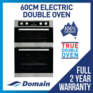 NEW-60cm-8-4-FUNCTION-DOUBLE-ELECTRIC-FAN-FORCED-WALL-OVEN-DESIGNER-LOOK