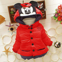 Mädchen Kinder Winter Mickey Maus Kapuze Steppjacke Baby Winterjacke Schneeanzug