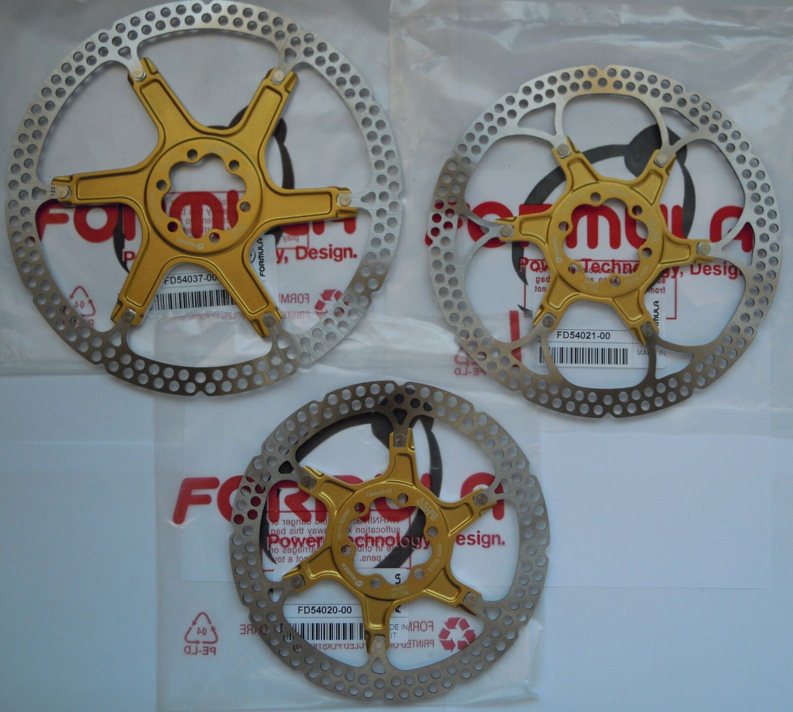 Formula - 1 (One) Disk Model Two Piece 2-Piece Gold Gold 6 Holes 160 180 203m