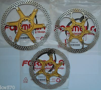 Formula - 1 (uno) disco modello due pezzi/2-piece ORO/GOLD 6 fori 160/180/203m