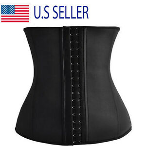 058fc7d8f7c Image is loading Waist-Trainer-Faja-Cincher-Latex-Women-Underbust-Corset-