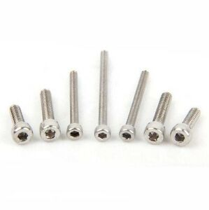 100PCS M1.4/M1.6 Allen Bolt Hex Socket Head Screw Stainless Steel Cap Bolt Bolts
