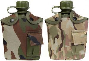 KAS-Kids-Army-Multi-Terrain-amp-Woodland-Camouflage-Camo-Belt-Pouch-Water-Bottle