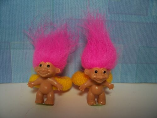 ~Rare~ TWO GOOD LUCK TROLL SCRUNCHIES FOR PONYTAILS NEW Russ Troll Doll