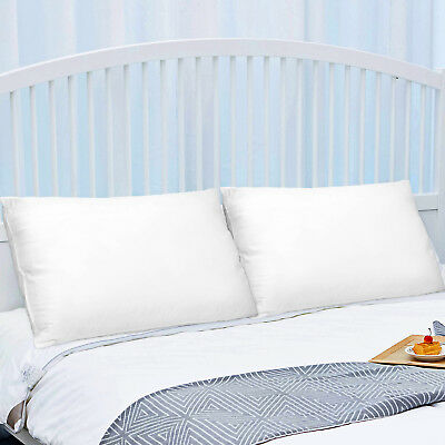 2-Pack Polyester Fiber Bed Pillow with Cotton Cover, Down pillow, Queen Size