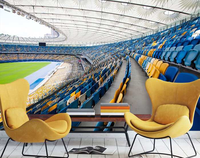 3D Stadium, chairs Wall Paper Print Wall Decal Deco Indoor Wall Murals