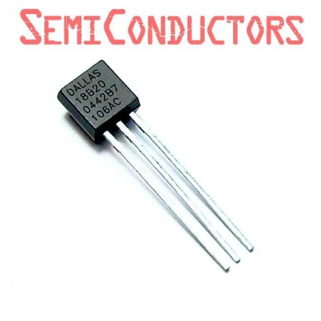 DS18B20 TEMPERATURE SENSOR Arduino 1-Wire Digital + Pull-up Resistor