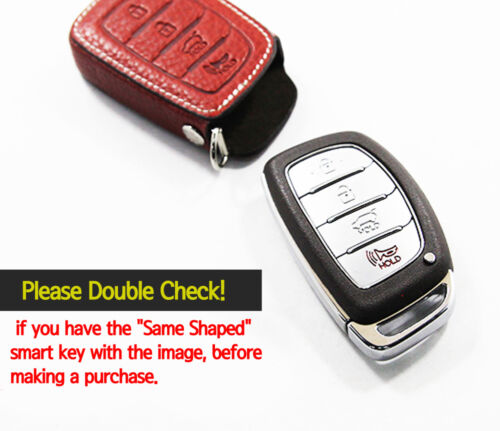 4Button 3Color Aegis Leather Strap Smart Key Case Cover BTS6 for HYUNDAI All Car